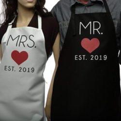 delantales de parejas