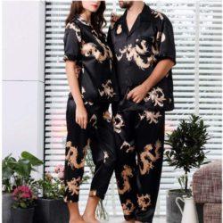 pijamas saten para parejas