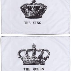 fundas de almohada coronas de parejas