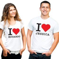 camiseta de parejas