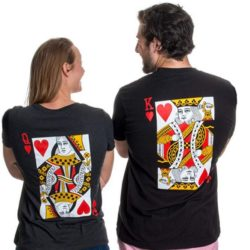Camisetas de cartas para parejas