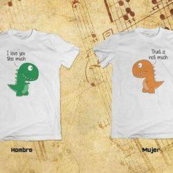 camisetas de dinosaurios para parejas