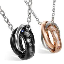 Colgantes de anillos para parejas