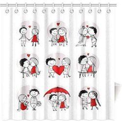 cortina de baño de parejas