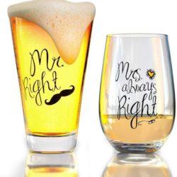 vasos para parejas