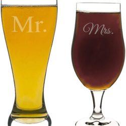 vaso y copa de parejas
