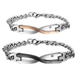 pulseras de cadenas para parejas