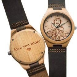 reloj de pulsera de madera de parejas