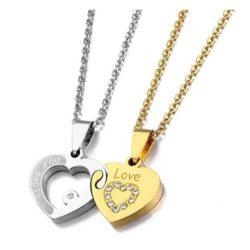 colgantes de corazon para parejas