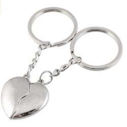 llavero de corazon para parejas